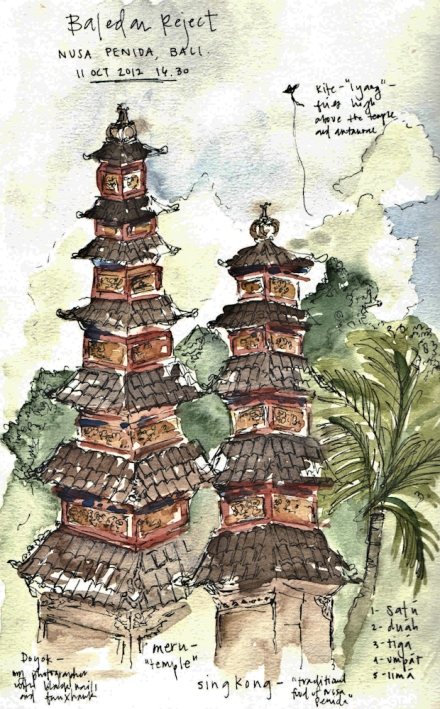 Nusa-Penida-temple-sketch